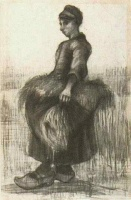 Винсент  ван Гог  Peasant Woman, Carrying Wheat in Her Apron