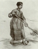 Винсент  ван Гог  Peasant Woman, Pitching Wheat or Hay