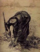 Винсент  ван Гог  Peasant Woman, Planting Beets