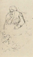 Винсент  ван Гог  Peasant Woman, Sitting with Chin in Hand