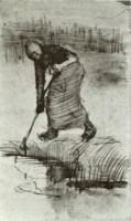 Винсент  ван Гог  Peasant Woman, Standing near a Ditch or Pool