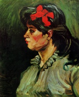 Винсент  ван Гог  Portrait of a Woman with a Red Ribbon
