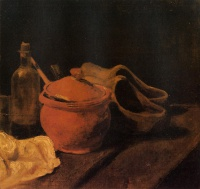 Винсент  ван Гог  Still Life with Earthenware, Bottle and Clogs