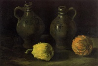 Винсент  ван Гог  Still Life with Two Jars and Two Pumpkins
