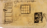 Винсент  ван Гог  Studies of the Interior of a Cottage, and a Sketch of The Potato Eaters