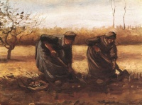 Винсент  ван Гог  Two peasant women digging potatoes