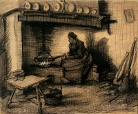 Винсент  ван Гог  Woman Preparing a Meal