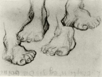 Винсент  ван Гог  Four Sketches of a Foot