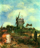 Винсент  ван Гог  Le Moulin de la Gallette 3