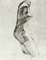 Винсент  ван Гог  Plaster Torso of a Woman, Seen from the Side