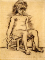 Винсент  ван Гог  Seated Girl Seen from the Front