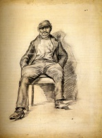Винсент  ван Гог  Seated Man with a Moustache and Cap
