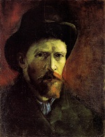 Винсент  ван Гог  Self-Portrait with Dark Felt Hat
