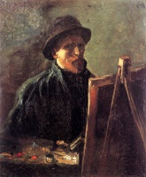 Винсент  ван Гог  Self-Portrait with Dark Felt Hat at the Easel