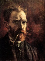 Винсент  ван Гог  Self-Portrait with Pipe