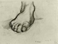 Винсент  ван Гог  Sketch of a Foot