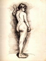 Винсент  ван Гог  Standing Female Nude Seen from the Back