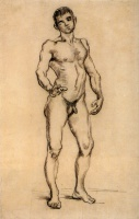 Винсент  ван Гог  Standing Male Nude Seen from the Front