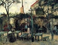 Винсент  ван Гог  Terrace of a Cafe on Montmartre