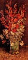 Винсент  ван Гог  Vase with Gladioli and Carnations
