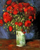 Винсент  ван Гог  Vase with Red Poppies