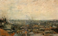 Винсент  ван Гог  View of Paris from Montmartre