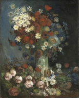 Винсент  ван Гог  Still life with meadow flowers and roses