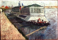 Винсент  ван Гог  Bathing Float on the Seine at Asnieres