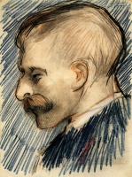 Винсент  ван Гог  Head of a Man (Possibly Theo van Gogh)