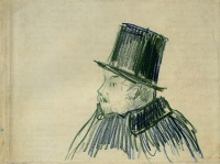 Винсент  ван Гог  Head of a Man with a Top Hat