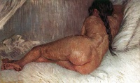 Винсент  ван Гог  Nude Woman Reclining, Seen from the Back