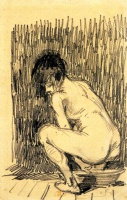 Винсент  ван Гог  Nude Woman Squatting Over a Basin