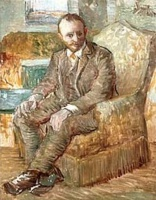Винсент  ван Гог  Portrait of the Art Dealer Alexander Reid, Sitting in an Easy Chair