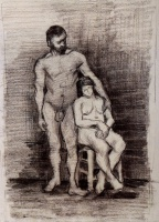 Винсент  ван Гог  Standing Male and Seated Female Nudes