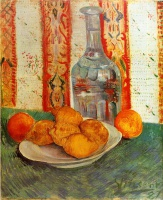 Винсент  ван Гог  Still Life with Decanter and Lemons on a Plate