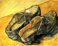 Винсент  ван Гог  A Pair of Leather Clogs