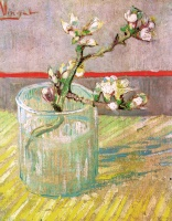 Винсент  ван Гог  Blossoming Almond Branch in a Glass