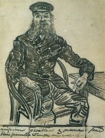 Винсент  ван Гог  Joseph Roulin, Sitting in a Cane Chair, Three-Quarter-Length