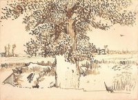 Винсент  ван Гог  Landscape with a Tree in the Foreground