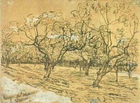 Винсент  ван Гог  Orchard with Blossoming Plum Trees (The White Orchard)