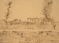 Винсент  ван Гог  Ploughman in the Fields near Arles