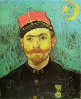 Винсент  ван Гог  Portrait of Milliet, Second Lieutnant of the Zouaves