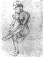 Винсент  ван Гог  Sketch of a Seated Woman