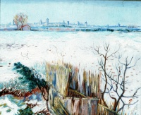 Винсент  ван Гог  Snowy Landscape with Arles in the Background