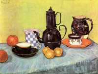 Винсент  ван Гог  Still Life with Blue Enamel Coffeepot, Earthenware and Fruit