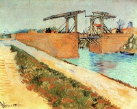 Винсент  ван Гог  The Langlois Bridge at Arles with Road Alongside the Canal