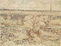 Винсент  ван Гог  Wheat Field with Sheaves