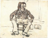 Винсент  ван Гог  Zouave Sitting, Whole Figure