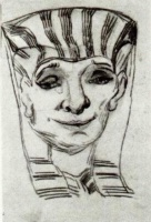 Винсент  ван Гог  Mask of an Egyptian Mummy