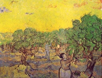 Винсент  ван Гог  Olive Grove with Picking Figures